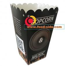 Коробочка для попкорна V24, 0.7литра, Popcorn Music