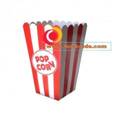 Красно-белая коробочка для попкорна 0.7литра, V24, Украина