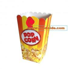 Желто-красная коробочка для попкорна 0.7литра, V24, Украина