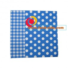 Бумажные салфетки, Синий горошек, 33х33 см, пачка 20шт.