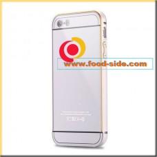 Алюминиевый чехол-бампер для Apple IPhone 5S (серебристый металик)