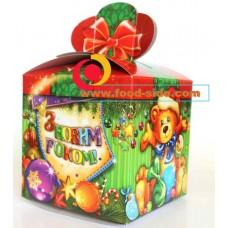 Новогодняя упаковка подарков, Бант Медведь