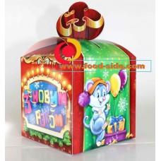 Новогодняя упаковка подарков, Бант Мышь