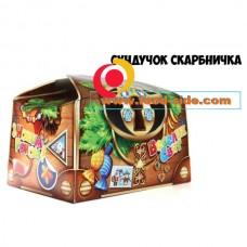 """Праздничная новогодняя коробка для подарка """"Сундучок-копилка"""" 150-200 гр."""