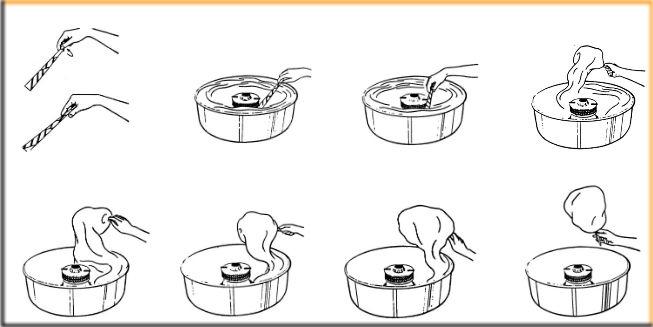 Как накручивать сладкую вату, сахарную вату на аппарате сахарной ваты