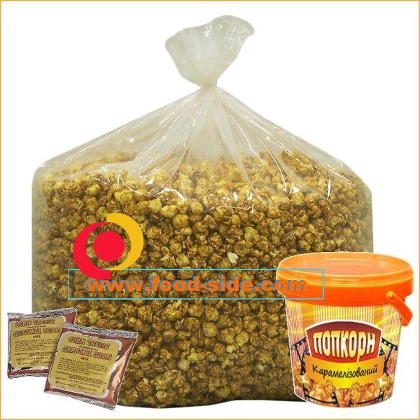 Карамельный попкорн, оборудование и упаковка