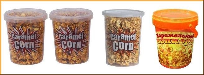 Пластиковые ведерки для карамельного попкорна