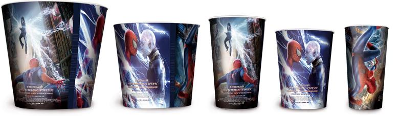 Бумажные стаканы для попкорна к фильму «Новый Человек-паук: Высокое напряжение»
