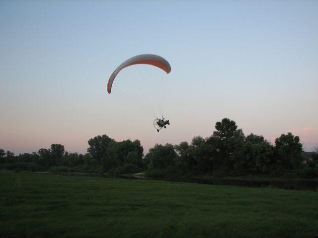 Обучение полётам на паратрайке