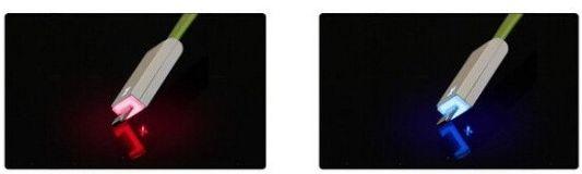 USB кабель для iphone 5/5s/5c c световой индикацией заряда